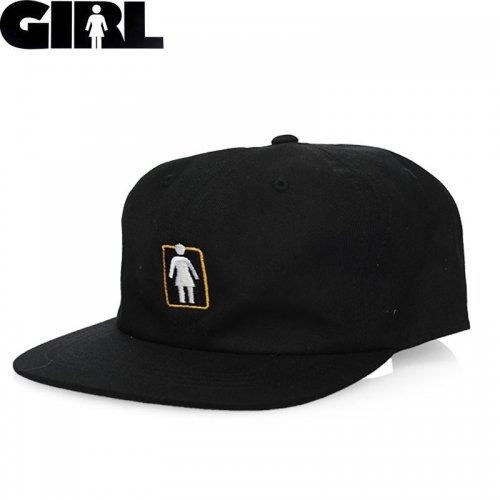 【ガール GIRL スケボー キャップ】UNBOXED SNAPBACK HAT ブラック NO81