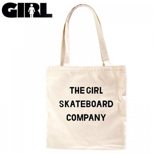 【GIRL ガールスケートボード スケボー トートパック】SANS CANVAS TOTE BAG ナチュラル NO15