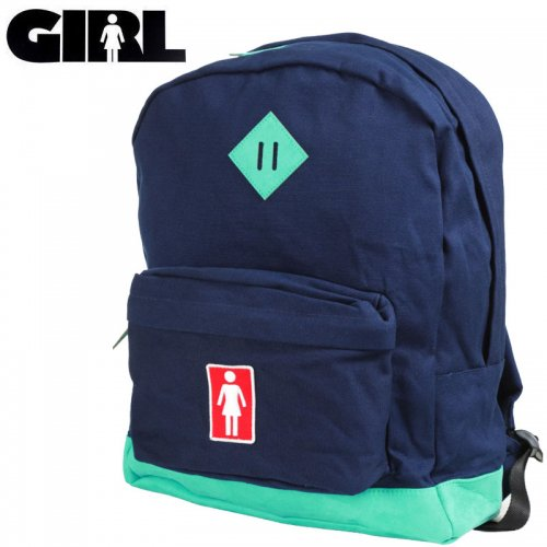 【GIRL ガールスケートボード スケボー バックパック】SIMPLE BACKPACK ネイビー×ティール NO16