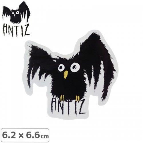 【ANTIZ アンティス スケートボード ステッカー】OWL STICKER【6.2cm×6.6cm】NO1