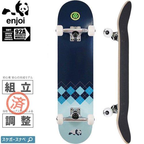 【エンジョイ ENJOI スケートボード コンプリート】ARGYLE FP 92A COMPLETE【7.625インチ】NO47