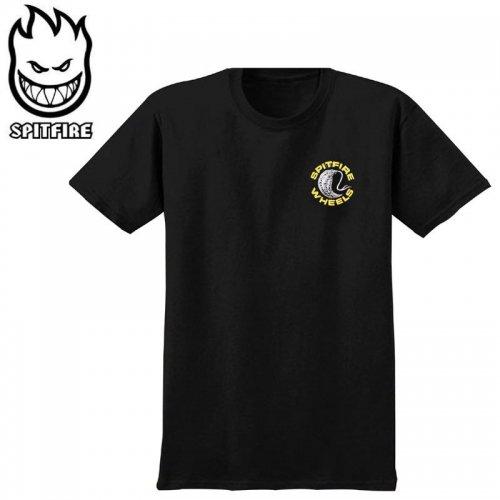 【SPITFIRE スピットファイア スケボー Tシャツ】DEEP CUTS TEE【ブラック×イエロー】NO273