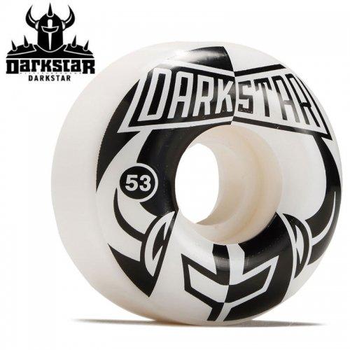 【ダークスター DARKSTAR ウィール】DIVIDE WHEELS WHITE/BLACK 99A【52mm】NO55