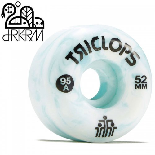 【DARKROOM ダークルーム スケボー ウィール】TRICLOPS BLUE MARBLES 95A WHEELS【52mm】NO5