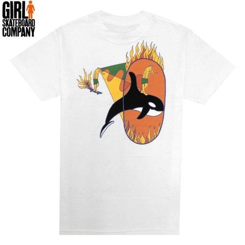 【ガール GIRLSKATEBOARD スケボー Tシャツ】ORCA TEE【ホワイト】NO315