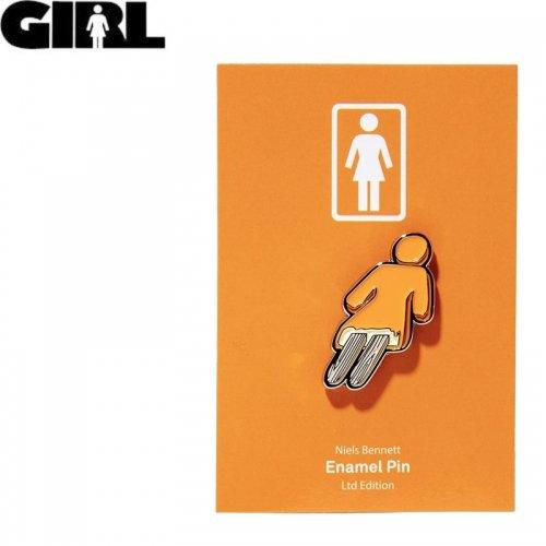 【GIRL ガールスケートボード ピンバッチ】CREAMSICLE ENAMEL PIN 2.9cm x 1.4cm NO13