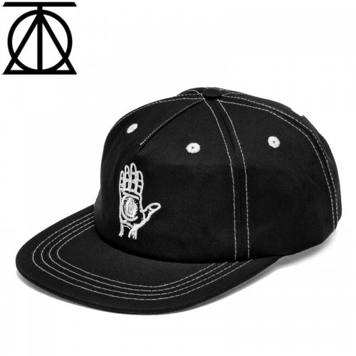 【THEORIES セオリーズ スケボー キャップ】19FA HAND OF THEORIES STRAPBACK CAP ブラック×ホワイト NO12