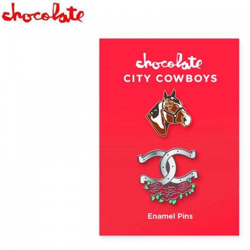【CHOCOLATE チョコレート スケートボード ピンバッチ】CITY COWBOYS PIN SET 2cm NO1