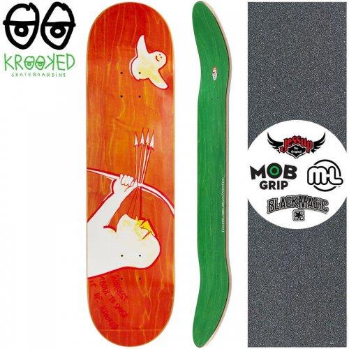 【クルックド KROOKED スケートボード デッキ】WORREST ARCHUR DECK【8.06インチ】オレンジ NO130