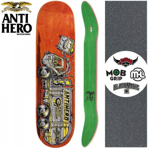【ANTI HERO アンタイヒーロー スケートボード デッキ】TAYLOR CURBSIDE【8.25インチ】オレンジ NO142