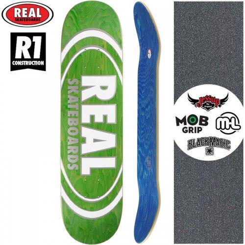 【リアル REAL スケートボード デッキ】TEAM OVAL PEARL PATTERNS R1 DECK【7.75インチ】グリーン NO173