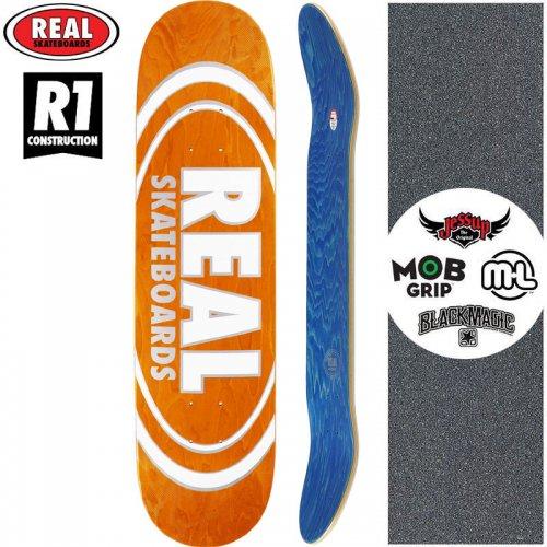 【リアル REAL スケートボード デッキ】TEAM OVAL PEARL PATTERNS R1 DECK【7.75インチ】オレンジ NO174