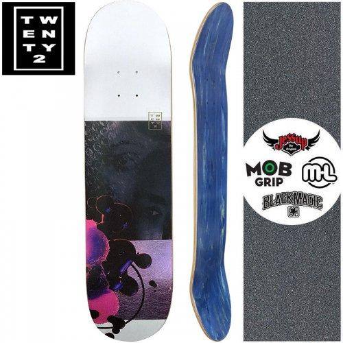 【22BOARD CO トゥエンティツー スケートボード デッキ】LAVEAU DECK【8.0インチ】ホログラム パープル NO2