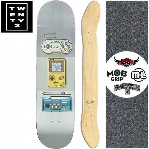 【22BOARD CO トゥエンティツー スケートボード デッキ】GAME DECK【8.0インチ】ホログラム NO18
