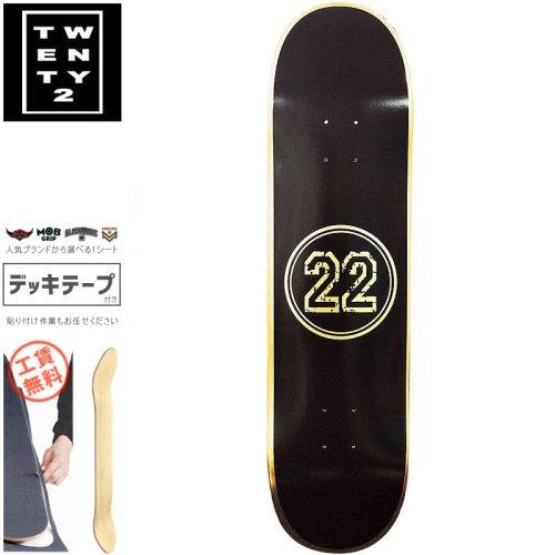 【22BOARD CO トゥエンティツー スケートボード デッキ】CIRCLE 22 DECK【8.25インチ】ホイル ゴールド NO20