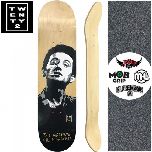 【22BOARD CO トゥエンティツー スケートボード デッキ】KILL FASCIST DECK【8.0インチ】NO21
