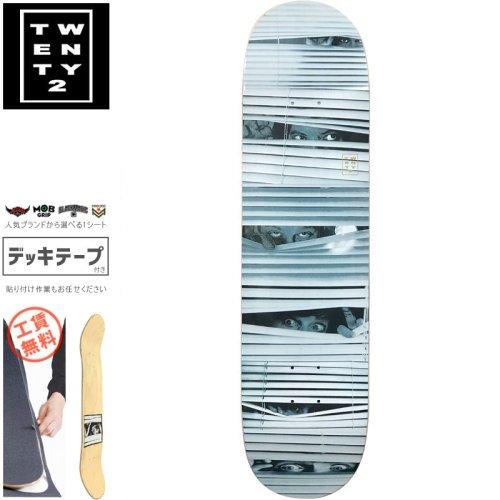 【22BOARD CO トゥエンティツー スケートボード デッキ】TRAP DECK【8.0インチ】NO22