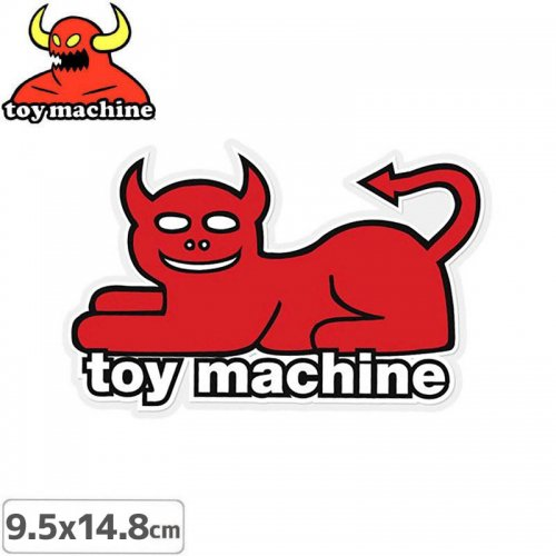 【トイマシーン TOY MACHINE スケボー ステッカー】DEVIL CAT STICKER 9.5cm x 14.8cm NO40