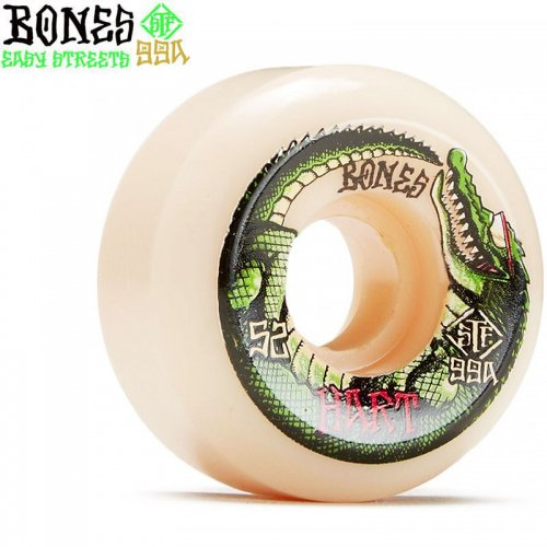 【ボーンズ BONES スケボーウィール】STF HART SPEED GATOR V5 SIDECUT 99A WHEELS【52mm】NO243
