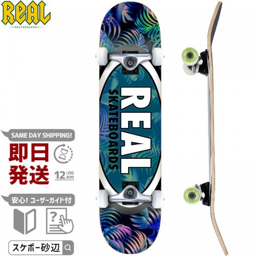 【リアル REAL スケートボード コンプリート】TEAM TROPIC OVALS II COMPLETE 95A【7.5インチ】NO36