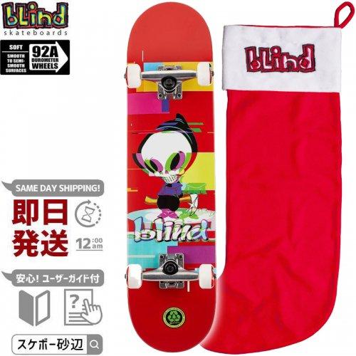 【ブラインド BLIND スケートボード コンプリート】REAPER GLITCH RED COMPLETE 92A【7.75インチ】NO138