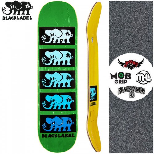 【ブラックレーベル BLACK LABEL スケートボード デッキ】ELEPHANT STACKED BLUE DECK グリーン【8.0インチ】NO92