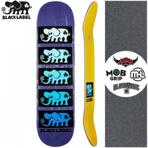 【ブラックレーベル BLACK LABEL スケートボード デッキ】ELEPHANT STACKED BLUE DECK パープル【8.0インチ】NO93