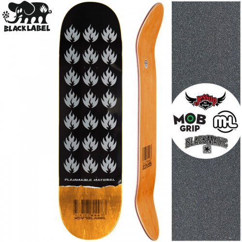【ブラックレーベル BLACK LABEL スケートボード デッキ】FLAMMABLE MATERIAL DECK オレンジ【8.5インチ】NO97