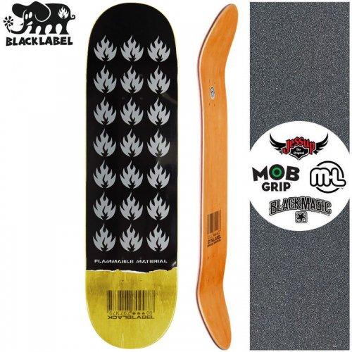 【ブラックレーベル BLACK LABEL スケートボード デッキ】FLAMMABLE MATERIAL DECK イエロー【8.5インチ】NO99