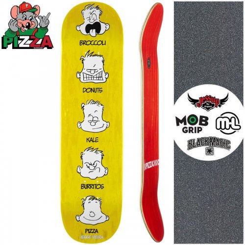 【PIZZA SKATEBOARDS ピザ スケートボード デッキ】VIEIRA FEELINGS DECK イエロー【8.0インチ】NO13