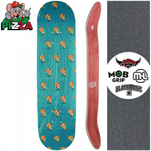 【PIZZA SKATEBOARDS ピザ スケートボード デッキ】EMOJI PATTERN DECK ターコイズ【8.0インチ】【8.25インチ】NO21