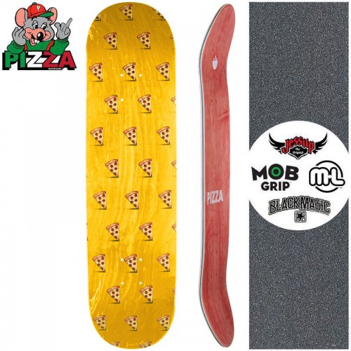 【PIZZA SKATEBOARDS ピザ スケートボード デッキ】EMOJI PATTERN DECK ゴールド【8.0インチ】【8.25インチ】NO25