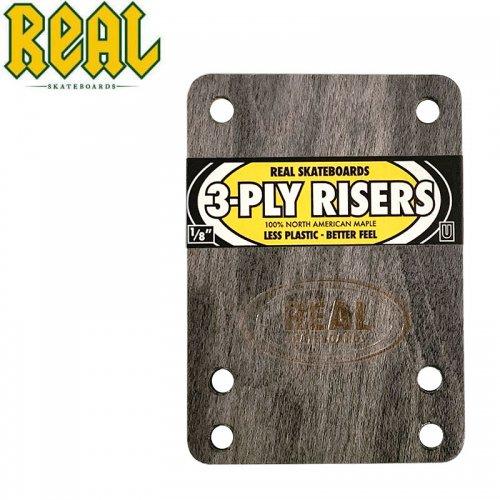 【リアル REAL スケボー ライザーパッド】3-PLY RISERS【1/8】UNIVERSAL(インディペンデントなど一般的なベースプレート用)NO1