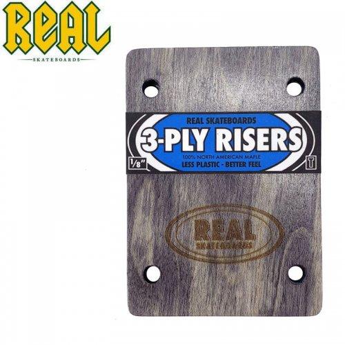 【リアル REAL スケボー ライザーパッド】3-PLY RISERS【1/8】THUNDER(サンダートラック系のベースプレート用)NO2