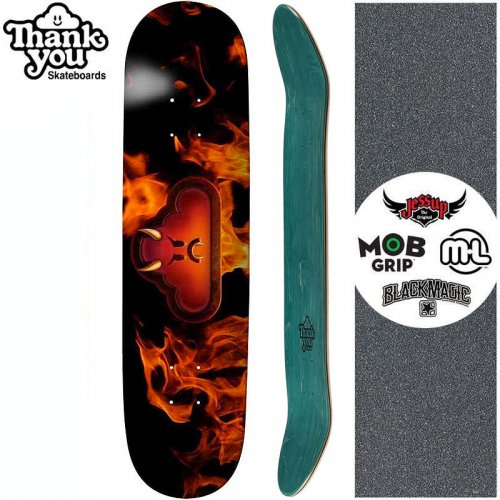 【THANK YOU SKATEBOARDS サンキュー スケートボード デッキ】FLAME ON DECK【7.75インチ】NO24