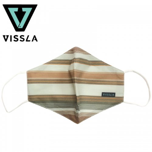 【ヴィスラ VISSLA 小物 マスク】BRN MASK ブラウン NO4