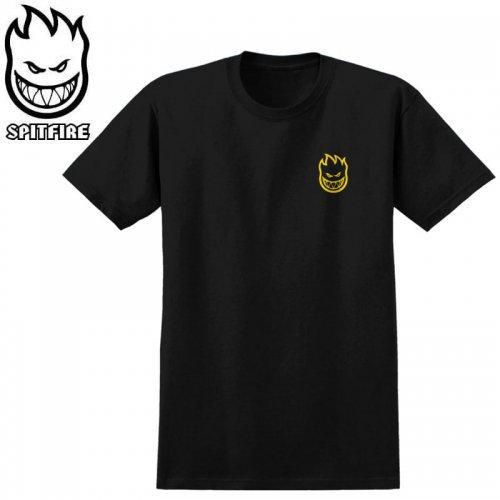 【SPITFIRE スピットファイア スケボー Tシャツ】CHAIN SWIRL TEE【ブラック×イエロー】NO274