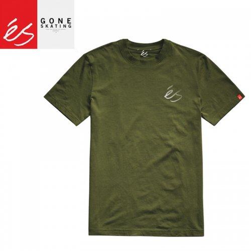 【エススケートボード ES FOOTWEAR スケボー Tシャツ】TEAM TEE【オリーブ】NO38