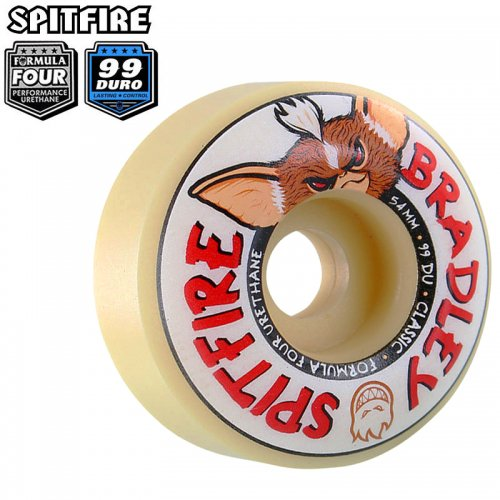 【SPITFIRE スピットファイアー ウィール】F4 99A BRADLEY CLASSICS WHEELS NATURAL【52mm】NO286