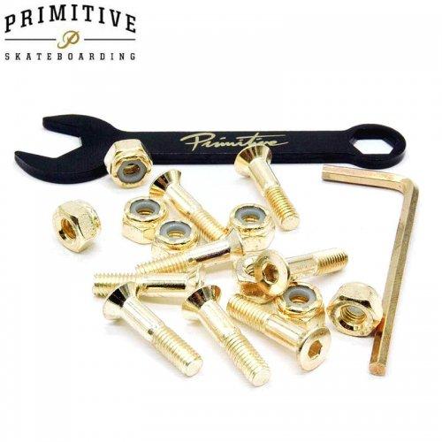 【プリミティブ PRIMITIVE スケボー ハードウェア】GOLD HARDWARE 8PK ALLEN 六角【7/8インチ】NO2