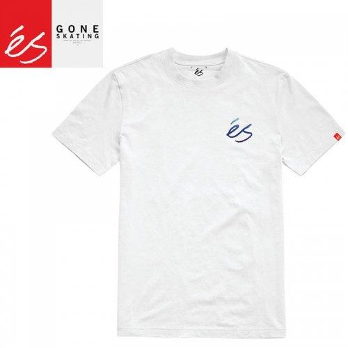 【エススケートボード ES FOOTWEAR スケボー Tシャツ】SCRIPT GRADIENT TEE【ホワイト】NO39