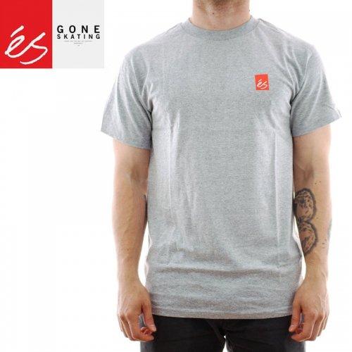【エススケートボード ES FOOTWEAR スケボー Tシャツ】TEAM FADE TEE【グレー×ヘザー】NO40