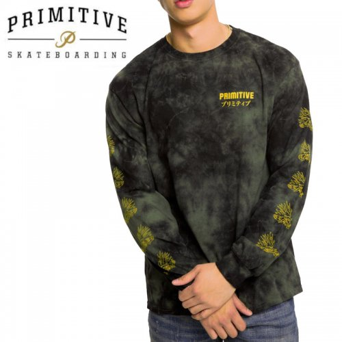 【PRIMITIVE プリミティブ スケボー ロング Tシャツ】DANASTY L/S TEE【ミリタリーグリーン】NO27