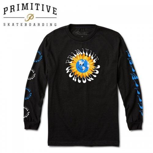 【PRIMITIVE プリミティブ スケボー ロング Tシャツ】EARTHY L/S TEE【ブラック】NO28