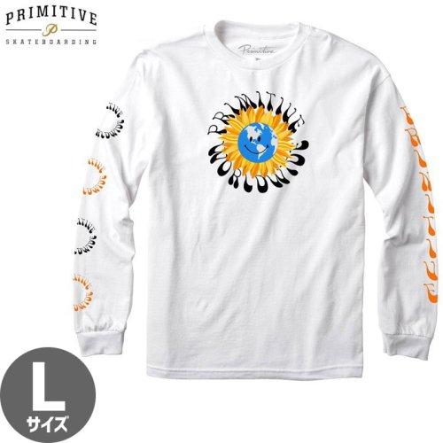 【PRIMITIVE プリミティブ スケボー ロング Tシャツ】EARTHY L/S TEE【ホワイト】NO29