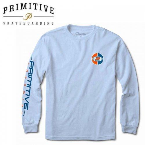 【PRIMITIVE プリミティブ スケボー ロング Tシャツ】AUTHENTIC L/S TEE【パウダーブルー】NO30