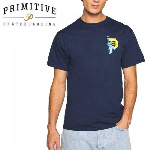【PRIMITIVE プリミティブ スケボー Tシャツ】BEACON TEE【ネイビー】NO35