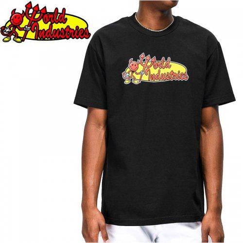 【WORLD INDUSTRIES ワールドインダストリーズ スケートボード Tシャツ】RETRO CORP TEE【ブラック】NO2