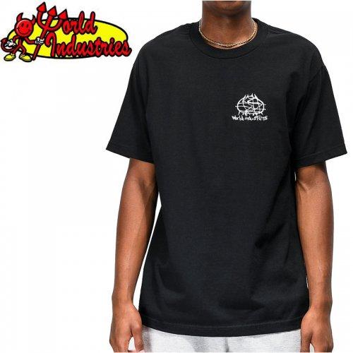 【WORLD INDUSTRIES ワールドインダストリーズ スケートボード Tシャツ】HERITAGE TEE【ブラック】NO3