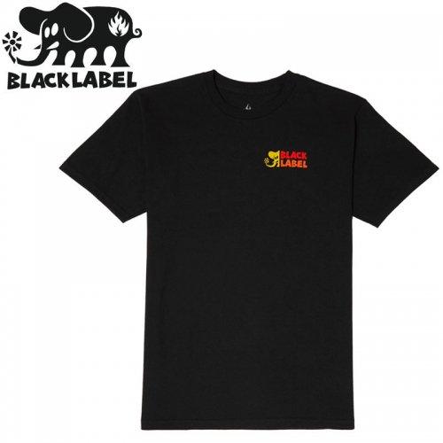 【BLACK LABEL ブラックレーベル スケボー Tシャツ】ELEPHANT SECTOR TEE【ブラック】NO51